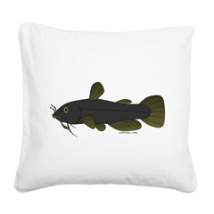Bullhead Catfish Square Canvas Pillow