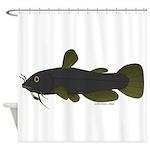 Bullhead Catfish Shower Curtain