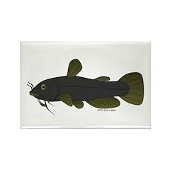 Bullhead Catfish Rectangle Magnet (100 pack)