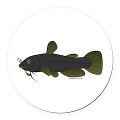 Bullhead Catfish Round Car Magnet