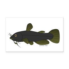 Bullhead Catfish Rectangle Car Magnet