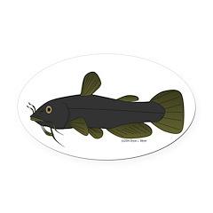 Bullhead Catfish Oval Car Magnet