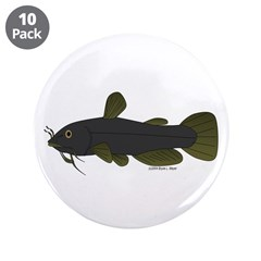 "Bullhead Catfish 3.5"" Button (10 pack)"