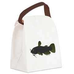 Bullhead Catfish Canvas Lunch Bag