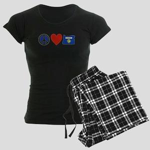 Peace Love Oregon Women's Dark Pajamas