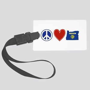 Peace Love Oregon Large Luggage Tag