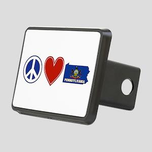 Peace Love Pennsylvania Rectangular Hitch Cover