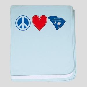 Peace Love South Carolina baby blanket