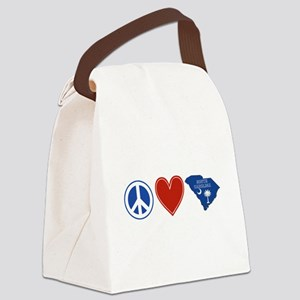 Peace Love South Carolina Canvas Lunch Bag