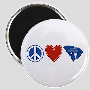 Peace Love South Carolina Magnet
