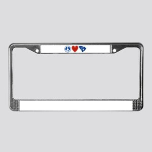 Peace Love South Carolina License Plate Frame