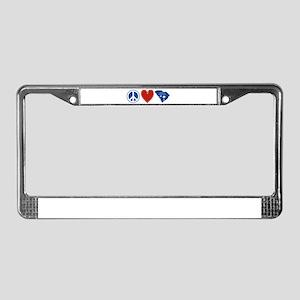 Peace Love South Carolina License Plate Frame
