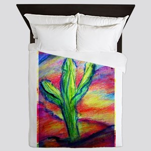 Saguaro Cactus, Southwest art! Queen Duvet