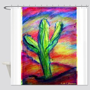 Saguaro Cactus, Southwest Art! Shower Curtain