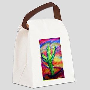 Saguaro Cactus, Southwest art! Canvas Lunch Bag