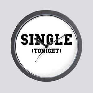 Single Tonight Wall Clock