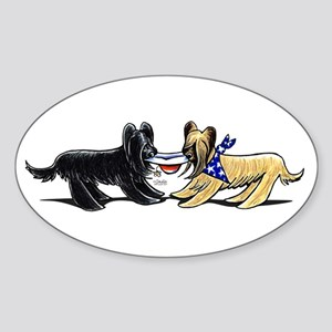 Briard Hat Off-Leash Art™ Sticker