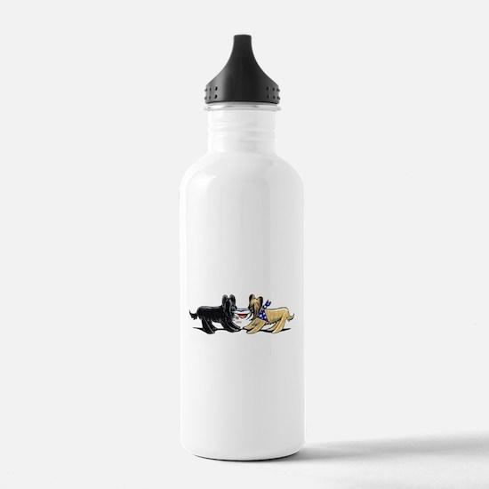 Briard Hat Off-Leash Art™ Water Bottle