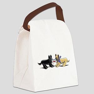 Briard Hat Off-Leash Art™ Canvas Lunch Bag