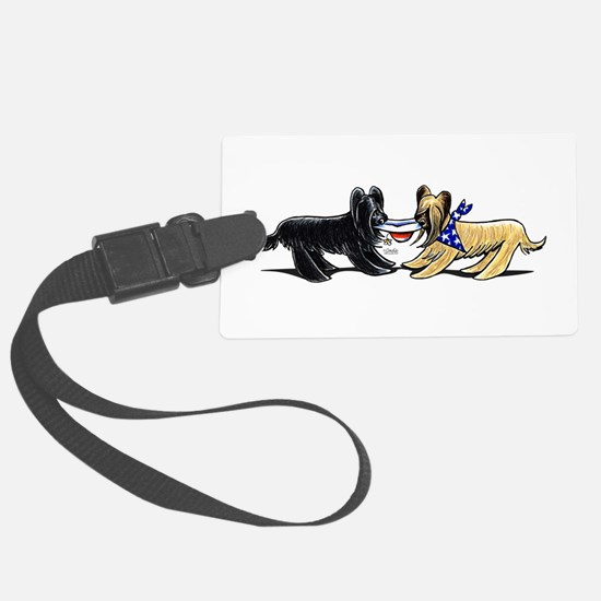 Briard Hat Off-Leash Art™ Luggage Tag