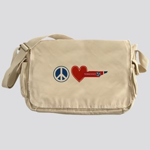 Peace Love Tennessee Messenger Bag