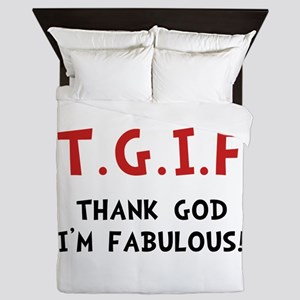 TGIF Fabulous Queen Duvet