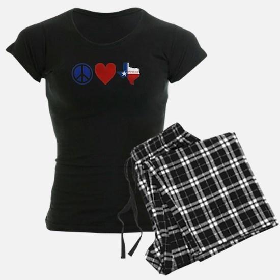 Peace Love Texas Pajamas