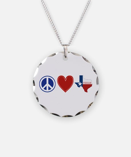 Peace Love Texas Necklace