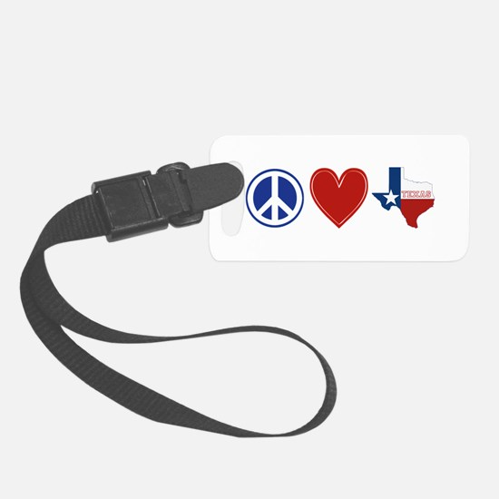 Peace Love Texas Luggage Tag