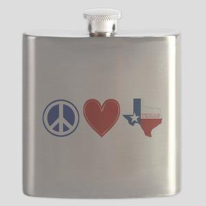 Peace Love Texas Flask