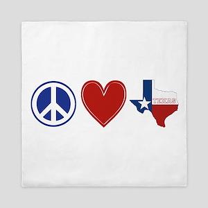 Peace Love Texas Queen Duvet