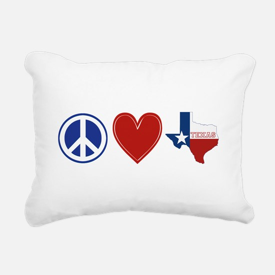 Peace Love Texas Rectangular Canvas Pillow