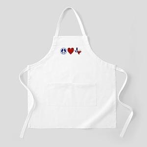Peace Love Texas Apron
