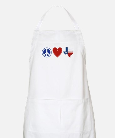 Peace Love Texas Apron