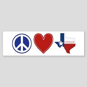 Peace Love Texas Sticker (Bumper)
