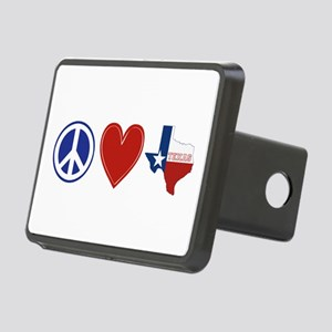 Peace Love Texas Rectangular Hitch Cover
