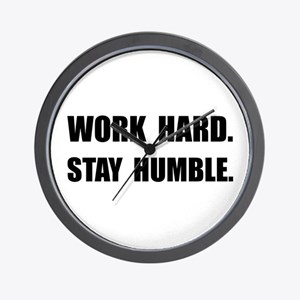 Work Hard Stay Humble Wall Clock