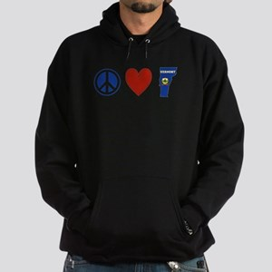 Peace Love Vermont Hoodie (dark)