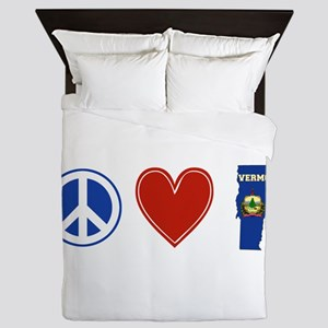 Peace Love Vermont Queen Duvet