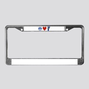 Peace Love Vermont License Plate Frame