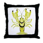 Crayfish Freshwater Ringed PBFW Throw Pillow