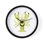 Crayfish Freshwater Ringed PBFW Wall Clock