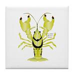 Crayfish Freshwater Ringed PBFW Tile Coaster