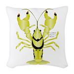 Crayfish Freshwater Ringed PBFW Woven Throw Pillow