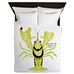 Crayfish Freshwater Ringed PBFW Queen Duvet