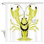 Crayfish Freshwater Ringed PBFW Shower Curtain