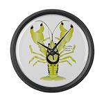 Crayfish Freshwater Ringed PBFW Large Wall Clock