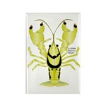 Crayfish Freshwater Ringed PBFW Rectangle Magnet (