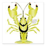 Crayfish Freshwater Ringed PBFW Square Car Magnet