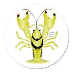 Crayfish Freshwater Ringed PBFW Round Car Magnet